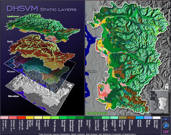 DHSVM Input Layers-Landcover, Soils, Elevation