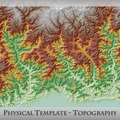 Bhutan DrukDIF - Physical Template - Topography